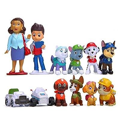 Hyde Minifiguras de La Patrulla Canina, 12 figuras de la Patrulla Canina, para decoración de tartas, fiestas de cumpleaños de Hyde