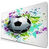 Bonita alfombrilla de ratón,colorida pelota de fútbol,triángulos abstractos I,alfombrilla rectangular de goma antideslizante para escritorio,alfombrilla de escritorio para jugadores,15.8 'x29.5'