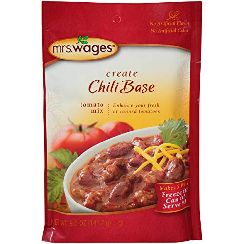 Mrs Wages Chili Base Canning Mix, 5 Oz Package (VALUE PACK of 6)