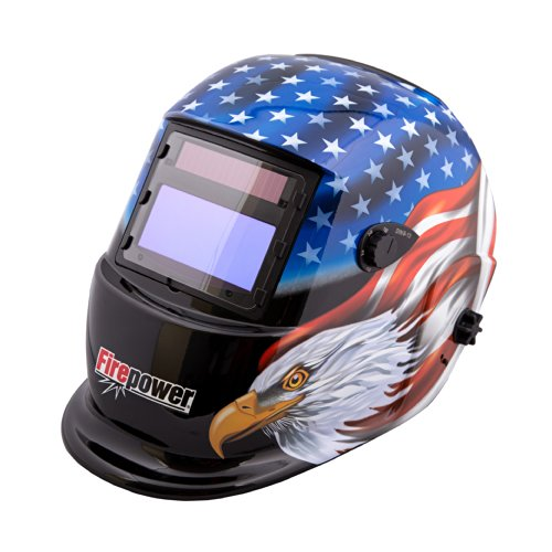 Firepower 1441-0087 Auto-Darkening Welding Helmet with Stars and Stripes Design