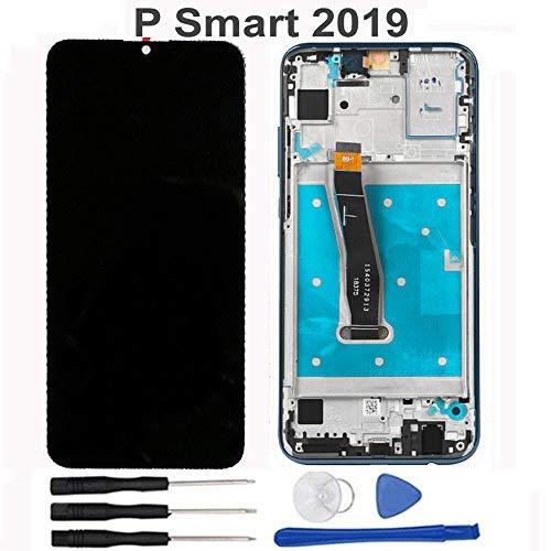 soliocial Sostituzione Assemblea Schermo LCD Display Digitizer Touch Screen Vetro per Huawei P Smart 2019 Pot-LX1 / POT-LX1AF / POT-LX2J POT-LX1RUA Pot-LX3 Nero con Cornice (P Smart 2019)