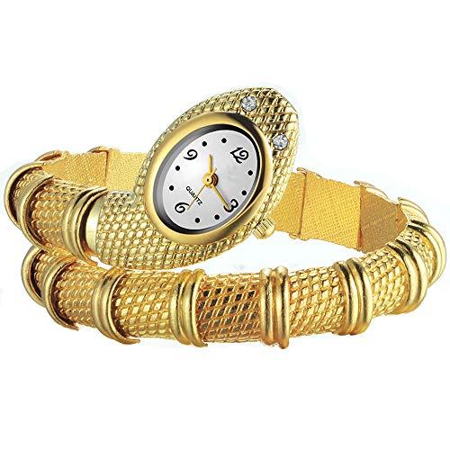 FENKOO, orologio da polso analogico da donna, in lega di oro, al quarzo