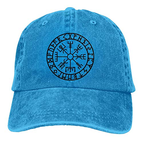 FTTUTY Viking Symbol Nordic Compass Baseball-Cap Twill Adjustable Dad-Hat