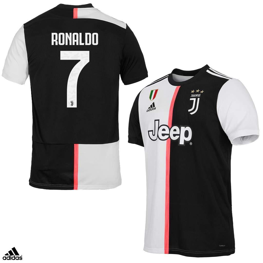 Juventus Camiseta Ronaldo CR7 Gara Home oficial temporada 2019/2020-100% producto oficial - 100% original - niño - parche escudo siempre incluido - Elige la talla, Taglia 140 cm 9/10 Anni: Amazon.es: Deportes y aire libre