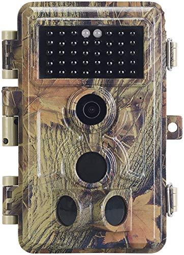 VisorTech Wildüberwachungskamera: Full-HD-Wildkamera, 3 Bewegungssensoren, Nachtsicht, Farbdisplay, IP66 (Nachtkamera)