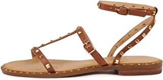 SIREN Birdy Tan Leather Womens Flat Sandals Summer Sandals