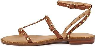 SIREN Birdy Tan Leather Womens Flat Sandals Summer Sandals