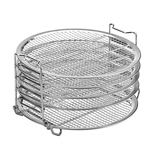 Great Deal! Kispog Dehydrator Rack Grill Accesories Compatible For Ninja Foodi 6.5 & 8 qt, Instant P...