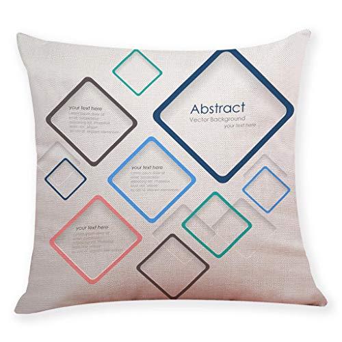 Mamum Taie d'oreiller décoratif Housse de Coussin imprimé La géométrie Housse de Coussin canapé décor à la Maison (A)
