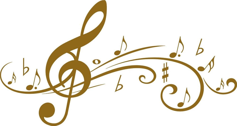 GRAZDesign Wandaufkleber Wohnzimmer Flur Musikzimmer Musikzimmer Musikzimmer - Deko Aufkleber Fliegende Musik-Noten - Wandtattoo Violinschlüssel   107x57cm   600027_57_092 B005RA84TW 5578ba