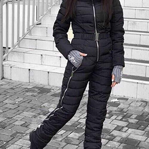 YRFDM Skianzug,2019 Einteiliger Skianzug Damen Daunenoverall Berg Skianzug Warmer Winter Skijacke Hose Atmungsaktiv Schneejacken, b, XXL