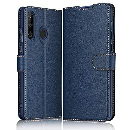ELESNOW Hülle für Huawei P30 Lite / P30 Lite New Edition, Premium Leder Klappbar Wallet Schutzhülle Tasche Handyhülle mit [ Magnetisch, Kartenfach, Standfunktion ] für Huawei P30 Lite (Blau)