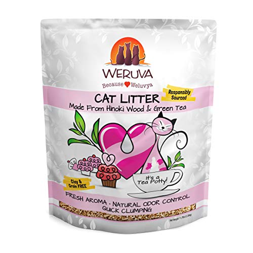 Weruva It's A Tea Potty! Hinoki Wood & Green Tea Natural Cat Litter, 11.7 lb Bag