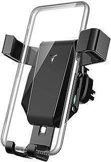 شاحن سيارة لاسلكي، حامل هاتف لشاحن سيارة لاسلكي 10 وات متوافق مع هاتف Galaxy S10/Note 9/S9+/S8, 7.5W متوافق مع iPhone XR/X...