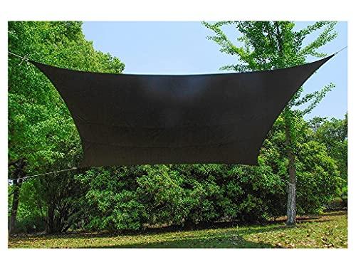 LIUNA Parasol Vela Sombra Rectangular Toldo Parasol Cuadrados de Vela Sombra Resistente Impermeable Resistente al Viento y la Lluvia para Terraza Camping Jardín al Aire Libre(Size:3x3x4.3m)