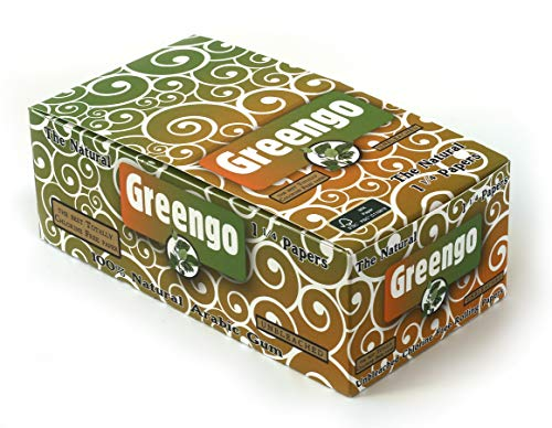 1 Caja - Papel Laminado Natural sin blanquear Greengo tamaño 1 1/4 - Total 50 folletos