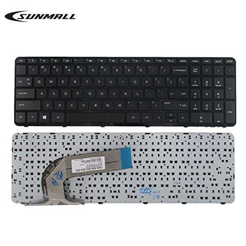 SUNMALL Keyboard Replacement with Frame for HP Pavilion 17-E 17-E000 17-e100 Serries Laptop Black US Layout