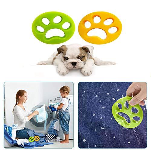 Guizu Agente de depilación para Mascotas, Lavadora con Bola de Limpieza, Agente de depilación para Mascotas Reutilizable, colector de Pelo para Mascotas (Juego de 2)