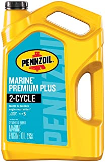 Pennzoil Marine Premium Plus Outboard 2 Cycle Oil, 1 Gallon – Pack of 1