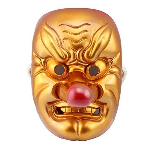 Dlll resina giapponese Legendary Specter, Tengu Braggart maschera, Poliresina, Golden, 26*18*16cm