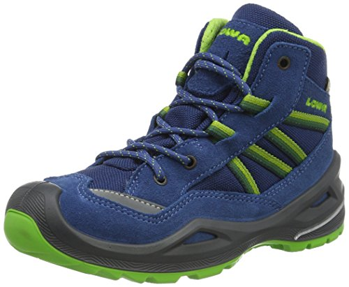 Lowa Unisex-Kinder Simon II GTX QC Trekking- & Wanderstiefel, Blau (Blu Limone), 30 EU
