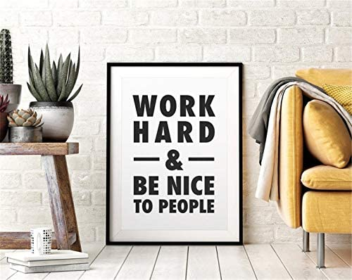 Wall Art Work Hard Be Nice To People Posters Canvas Prints Painting Picture Artwork Wall Decor product image