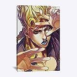 Cuadro en lienzo, arte de pared, Vento Aureo, póster de personaje de Anime, póster de lienzo, arte de pared abstracto, imagen impresa para sala de estar, decoración del hogar de la pared