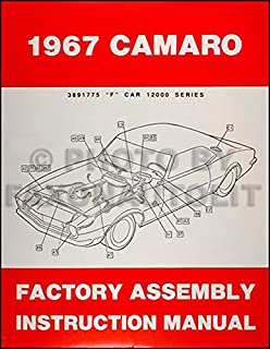 1967 Camaro Factory Assembly Manual Reprint including RS SS Z28