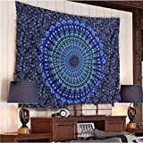 nobranded Peacock Flower Series Printing Home Hanging Painting Tapestry Wall Hanging Tapestry Hanging Decoration Mural
