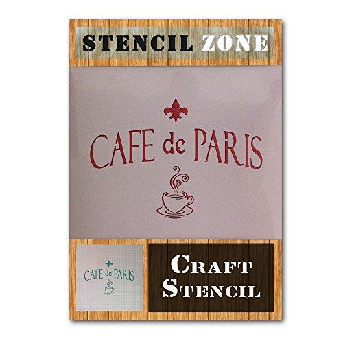 Cafe De Paris Koffie Shop Damask Mylar Airbrush Schilderen Muur Kunst Ambachten Stencil A2 Stencil - Large