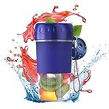 ACCIEEY Frullatore Portatile, 300ml Mini Frullatori per Frullati e Frullati, Tazza per Succo Elettrico USB, Frullatore Spremiagrumi, per Frutta e Verdura Blue