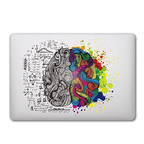 CAROKI New Art Removable Vinyl Decal Sticker Skin for Apple Macbook (Brain...