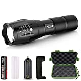 PeakPlus Rechargeable Tactical Flashlight LFX1000 (18650 Battery and Charger...