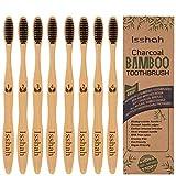Isshah Cepillo de bambú biodegradable ecológico respetuoso con el medio ambiente,...