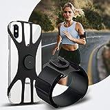 ランニング アームバンド スポーツ スマホ アームバンド 360度回転 スマホ バンド 腕/手首 2in1 SYOSIN スマホアームホルダー 調節可能 4-6.5インチのスマホ全機種に対応 転落防止 指紋・面部認証対応 取り外し可能なスマホバンド 男女兼用