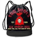 Borse da palestra, Zaini, Men Women Gym Drawstring Backpacks Shoulder Bags Sport Sack Backpack for Sport Yoga Trip, Six Demon Bag Wind Fire