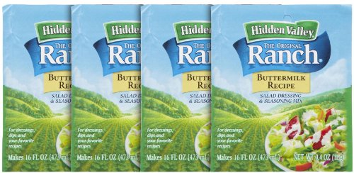 Hidden Valley Ranch Dressing Mix - Buttermilk - 0.4 oz - 4 pk