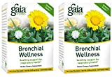 Gaia Herbs Bronchial Wellness Herbal Tea, 16 Tea Bags (Pack of 2) - Soothing Support, Promotes...