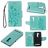 Guran Etui en PU Cuir Portefeuille Coque pour ASUS Zenfone Go ZB500KL Smartphone Magnétique Flip...
