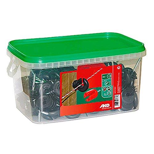 Kerbl 100 Ringisolatoren schwarz inkl. Einschraubhilfe Weidezaun Zubehör Zaunzubehör