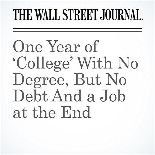 One Year of 'College' With No Degree, But No Debt And a Job at the End copertina