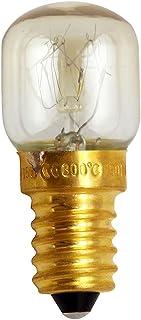 Bombilla de horno E12/E14 de repuesto fácil de instalar para microondas, base de cobre, luz de sal duradera, resistente al calor, súper brillante, incandescente, 15 W, 25 W