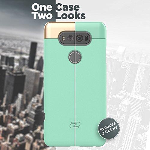 LG V20 Case, Encased Ultra Thin (2016 SlimShield Edition) Full Coverage, Hybrid Tough Shell (Mint Green)