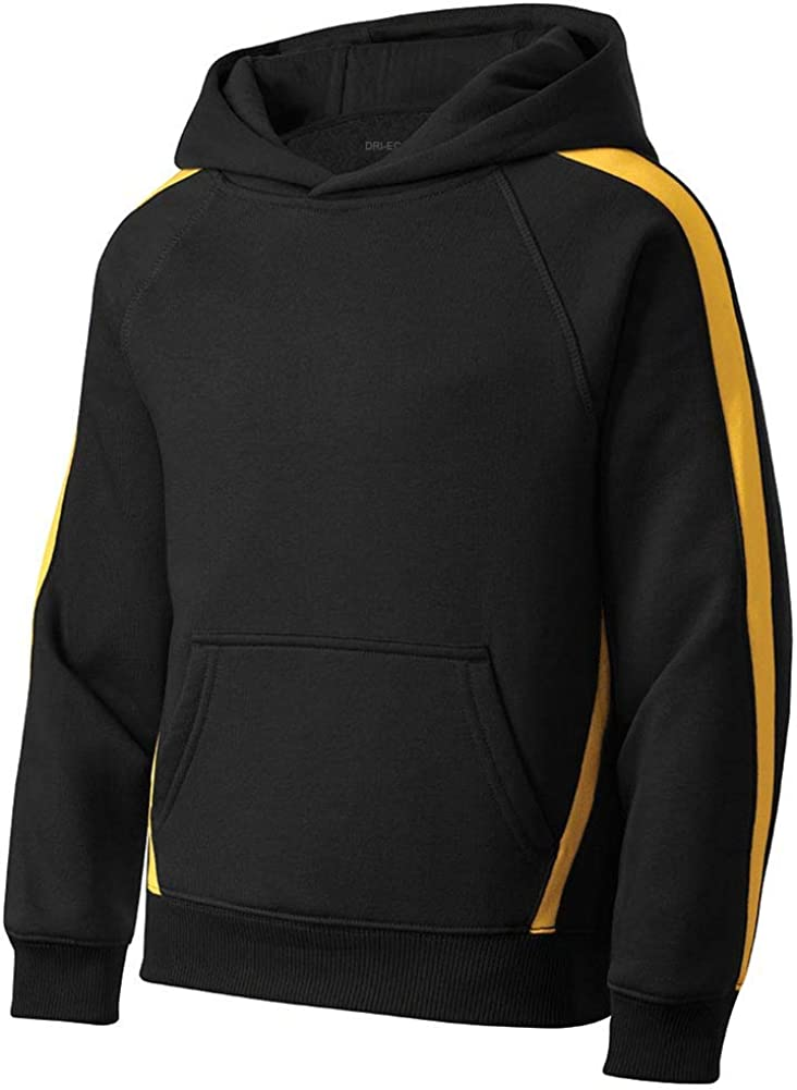 DRIEQUIP Youth Sleeve Stripe Pullover Hooded Sweatshirt in Sizes XS-XL
