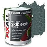 FIXALL Skid Grip Anti-Slip Paint, 100% Acrylic Skid-Resistant Textured Coating - F06565 - 1 Gallon, Color: Slate