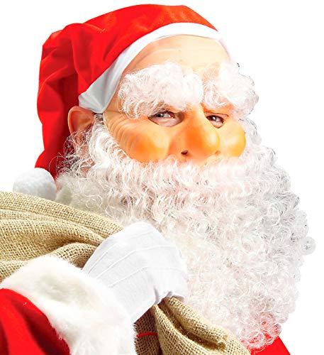 Widmann vd-wdm1515 N Masque Père Noël, blanc, Taille unique