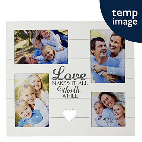Love Makes It All Worth While Multi Aperture Photo Frame By Home Living