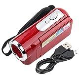 Gedourain Videocámara con cámara de Video, Videocámara Digital portátil Videocámara Digital USB2.0 multifunción educativa con Pantalla TFT para niños para Ciclismo(Rojo)