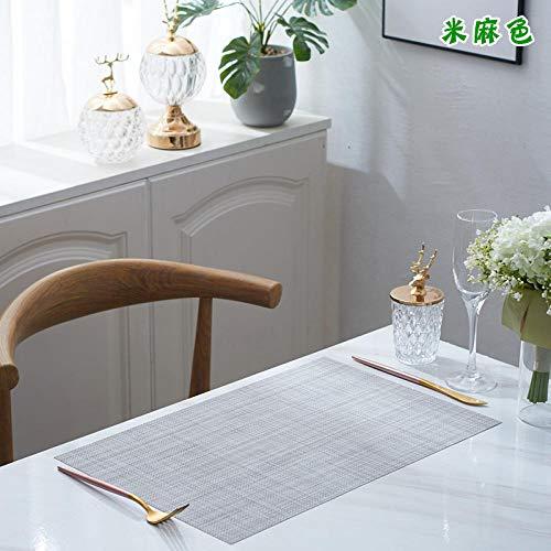 Multifunctionele tafelmatten, warmte-isolerende pads voor westerse levensmiddelen, Amerikaanse anti-hete pads voor platen, watervaste en olievrije wegwerppads, 4-delige set