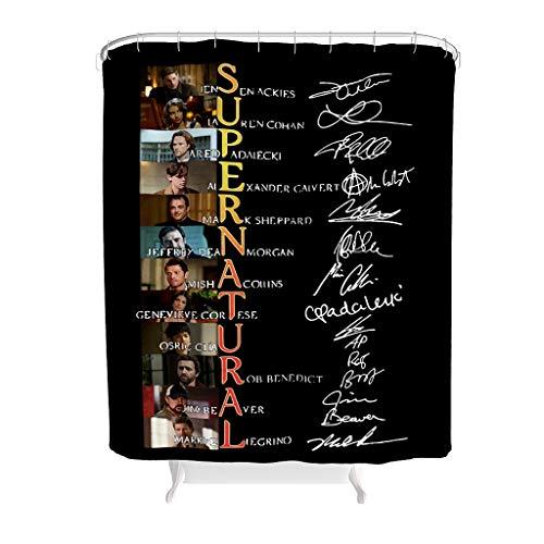 Dogedou Family 15 Years of Duschvorhang Wasserdicht Anti-Schimmel Stoff Polyester Textil Stoff Vorhang White 180x180cm